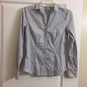 Preowned H&M Gray Dress Shirt- Size 8